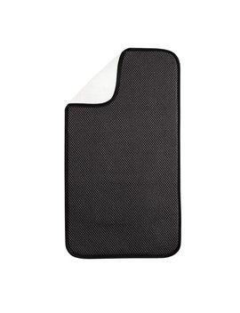 Inter Design I Dry 18 In. By 9 In. Mini Solid Kitchen Mat, Black And White by Inter Design