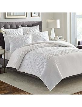 Stone Cottage Mosaic Comforter Set, King, White by Stone Cottage