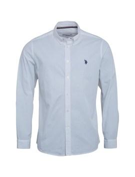 U.S. Polo Assn. Mens Clara Long Sleeve Shirt Bright White by Mand M Direct