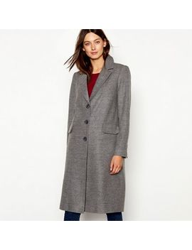 Red Herring   Grey Single Breasted City Coat by Red Herring