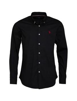 U.S. Polo Assn. Mens Clara Poplin Shirt Black by Mand M Direct