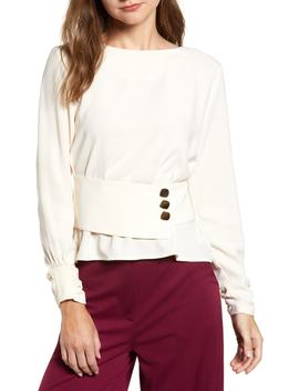Belted Button Top by J.O.A.