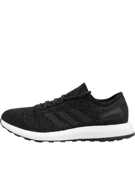 Adidas Mens Pure Boost Neutral Running Shoes Core Black/Dark Grey Heather Solid Grey/Core Black by Mand M Direct