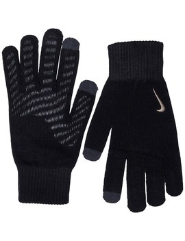 Nike Mens Knitted Tech And Grip Gloves Black/Anthracite/Metallic Gold by Mand M Direct