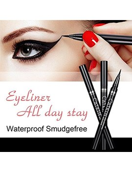 Pretty Diva Waterproof Liquid Eyeliner Ultra Thin Long Last Quick Dry Fine Tip Eyeliner Pen   Cool Black by Pretty Diva
