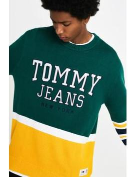 Tommy Jeans Colour Block Yellow Knit Jumper by Tommy Jeans