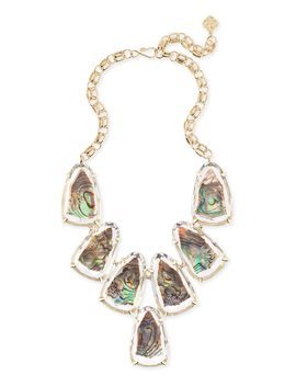 Harlow Gold Statement Necklace In Suspended Abalone Shell by Kendra Scott