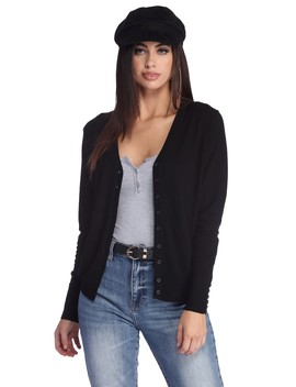 Button Like You Knit Cardigan by Windsor