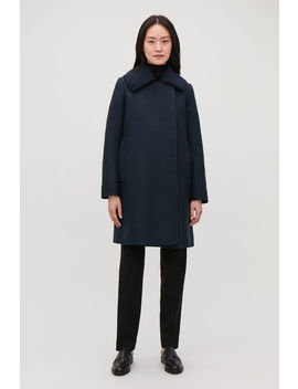 Knitted Collar Wool Coat by Cos