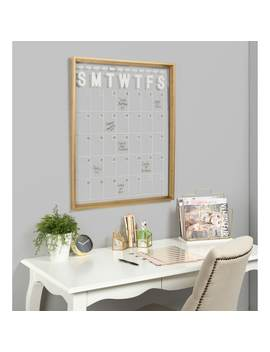 Kate And Laurel Calter Framed Erasable Month by Kate And Laurel
