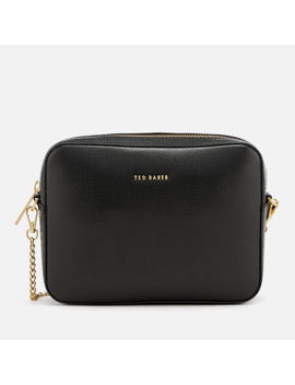 Ted Baker Women's Marciee Core Leather Camera Cross Body Bag   Black by The Hut