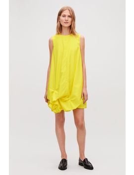 Gathered Hem Sleeveless Dress by Cos