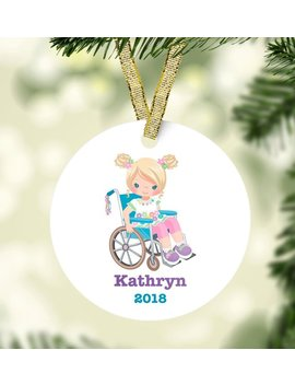 Girl & Wheelchair Christmas Ornament Special Ornament Custom Kids Christmas Ornament Unique Christmas Ornament Girls Christmas Ornament by Etsy