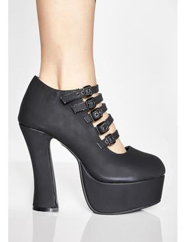 Strappy Spice Platform Heels by Tuk