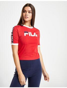 Fila Tape Crop Ringer T Shirt by Fila