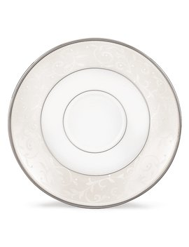 Opal Innocence Vine & Pearl Platinum Opalescent Bone China Saucer by Lenox