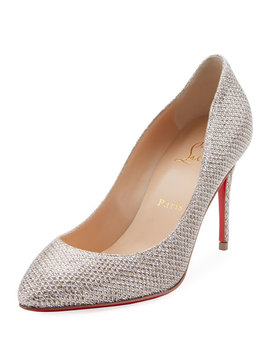 Eloise 85mm Glitter Red Sole Pumps by Christian Louboutin
