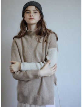 [Frontrow X Re Plain] Alpaca Loose Fit  Pullover by Frontrow
