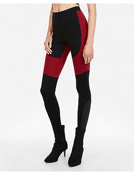 Color Block Ponte Knit Leggings by Express
