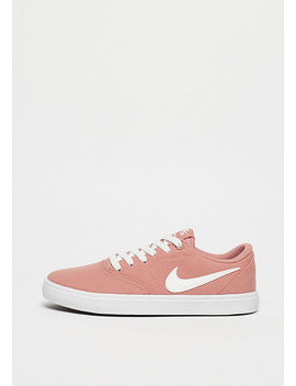 Wmns Check Solarsoft Rust Pink/Summit White White Black by Nike Sb