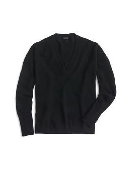 V Neck Boyfriend Cashmere Sweater by J.Crew