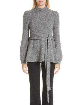 Belted Cashmere Blend Sweater by Co