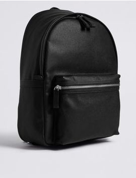 Textured Saffiano Rucksack by Marks & Spencer