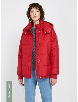 The Explorer Winter Puffer Jacket With Recycled 3 M™ Thinsulate™   Red by Frank And Oak