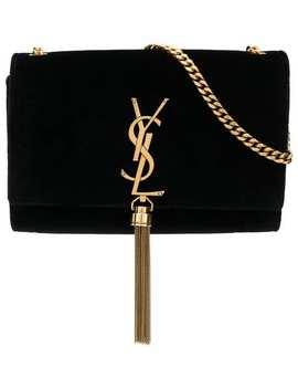 Small Kate Monogram Velvet Bag by Saint Laurent