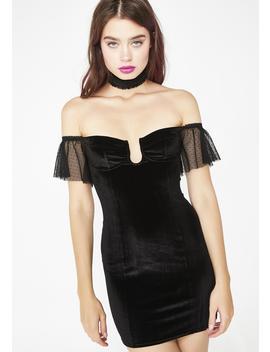 Minxy Velvet Chocker Dress by Sugar Thrillz