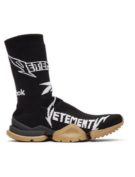 Black Reebok Classics Edition Metal Sock Sneakers by Vetements