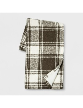 "60""X50"" Plaid Boucle With Sherpa Reverse Throw Blanket   Threshold™ by Threshold™"