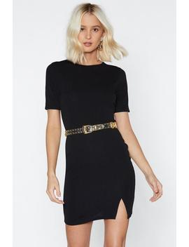 Slit Up On Mini Dress by Nasty Gal