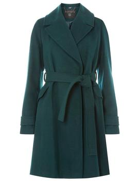 Green Belted Wrap Coat by Dorothy Perkins