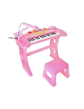 Chad Valley Sing Along Keyboard, Stand And Stool   Pink by Argos