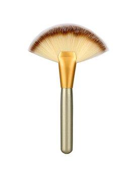 Neverland Face Brushes Large Slim Fan Makeup Brush Curve Foundation Brush For Blending Face Contour Powder by Neverland Beauty & Health