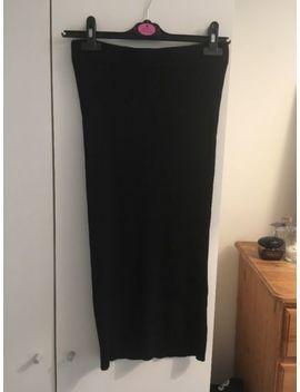 Zara Knitted Pencil Tube Black Skirt   Work Casual Grunge by Ebay Seller