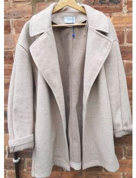 Zara Ladies Beige Soft Knit Jacket Coat Size Large New Bnwot by Ebay Seller