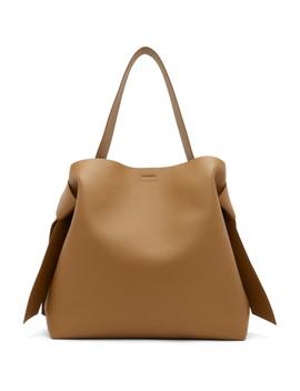 Brown Maxi Musubi Bag by Acne Studios