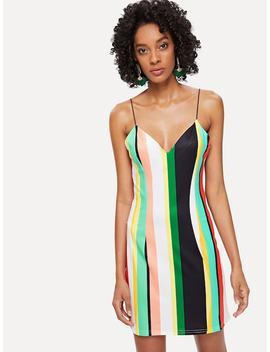Striped Cami Dress by Shein