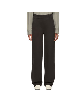 Black Large Twisted Lounge Pants by Lemaire