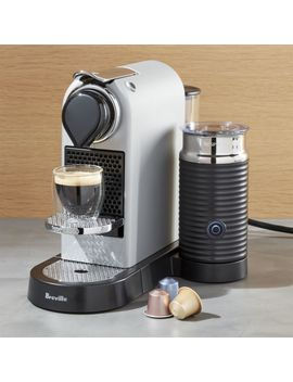 Nespresso ® By Breville Citiz Silver Espresso Machine With Milk Frother by Crate&Barrel