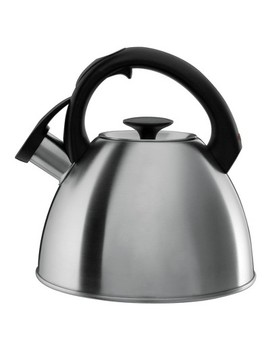 Oxo 2.1qt Stovetop Tea Kettle Brushed Stainless   Black 1072130 by Oxo