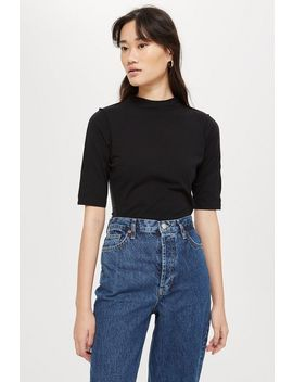 **Cupro Mix Fabric T Shirt By Boutique by Topshop