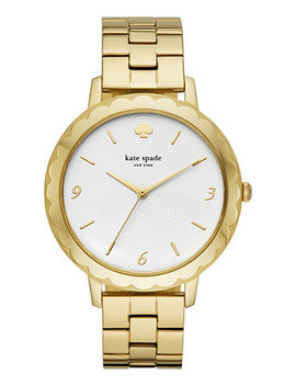 Women's Metro Scallop Gold Tone Stainless Steel Bracelet Watch 38mm by Kate Spade New York