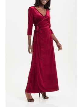 Elizabeth Velvet Wrap Dress by Daisy Jones' Locker, Omaha