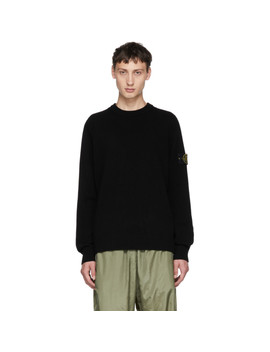 black-knit-sweater by stone-island