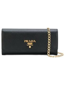 Prada Logo Plaque Baguette Clutchhome Women Prada Bags Clutch Bags by Prada