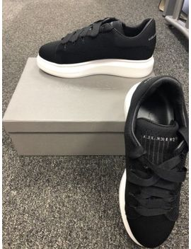Look A Like Alexander Mcqueen Black Knitted Trainers Size To Fit 10/11 by Ebay Seller