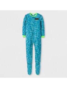 Boys' Inventor Graphic Footed Sleeper   Cat & Jack™ Aqua by Cat & Jack™